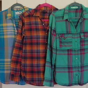3 Colorful Plaid Tops